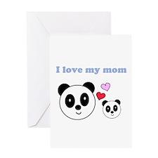 I LOVE MY MOM Greeting Card