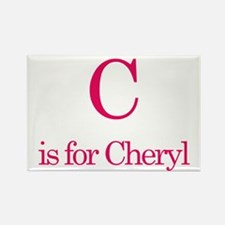 C is for Cheryl Rectangle Magnet