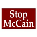 Stop McCain (Anti-McCain Auto Sticker)