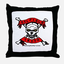 Oilfield Trash Throw Pillow