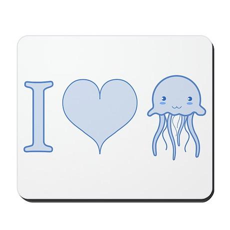 I Love Jellyfish Mousepad