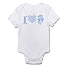I Love Jellyfish Infant Bodysuit