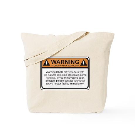 Warning Label Tote Bag