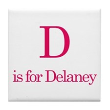 D is for Delaney Tile Coaster
