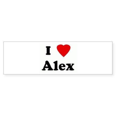 I Love Alex Bumper Sticker