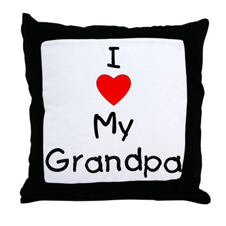 I love my grandpa Throw Pillow