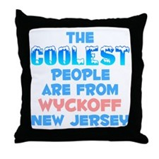 Coolest: Wyckoff, NJ Throw Pillow