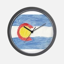 Colorado State Flag Wall Clock