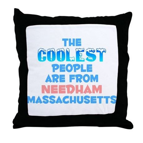 Coolest: Needham, MA Throw Pillow