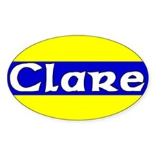 Clare Oval Decal