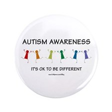 """Autism Difference 3.5"""" Button"""