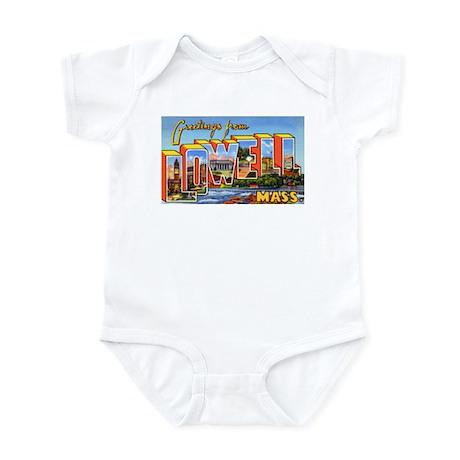 Lowell Massachusetts Greetings Infant Bodysuit