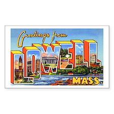 Lowell Massachusetts Greetings Sticker (Rectangula