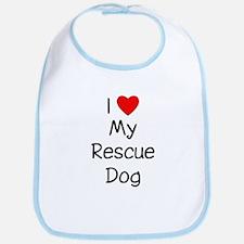 I Love My Rescue Dog Bib