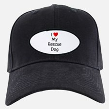 I Love My Rescue Dog Baseball Hat