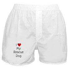 I Love My Rescue Dog Boxer Shorts