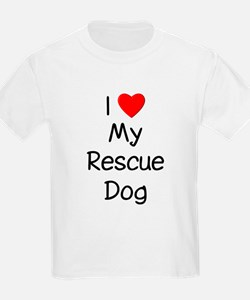 I Love My Rescue Dog T-Shirt