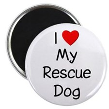 """I Love My Rescue Dog 2.25"""" Magnet (10 pack)"""