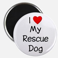 "I Love My Rescue Dog 2.25"" Magnet (10 pack)"