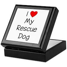 I Love My Rescue Dog Keepsake Box