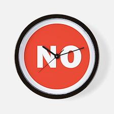 NO means no Wall Clock