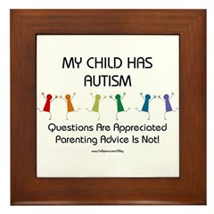 My Child Has Autism Framed Tile