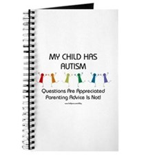 My Child Has Autism Journal