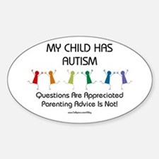 My Child Has Autism Oval Decal
