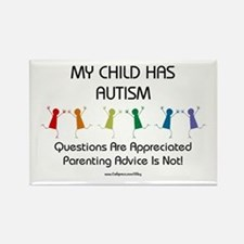 My Child Has Autism Rectangle Magnet