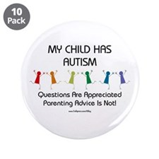 "My Child Has Autism 3.5"" Button (10 pack)"