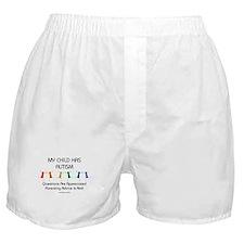 My Child Has Autism Boxer Shorts