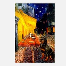 Cafe with Rottie Postcards (Package of 8)