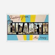 Elizabeth New Jersey Greetings Rectangle Magnet