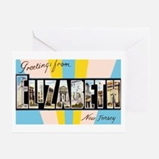 Elizabeth New Jersey Greetings Greeting Card