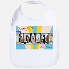 Elizabeth New Jersey Greetings Bib