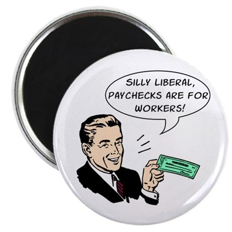 """Silly Liberal - Checks 2.25"""" Magnet (100 pack)"""