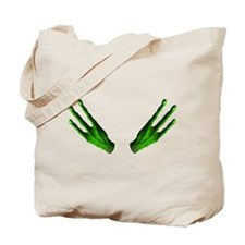Alien Hands Green Tote Bag