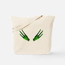 Alien Hands Green Tote Bag