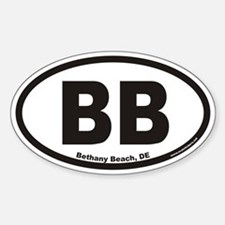 Bethany Beach Delaware BB Euro Oval Decal