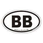 Bethany Beach Delaware BB Euro Oval Sticker