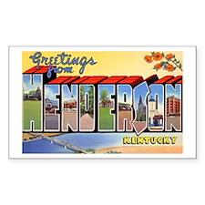 Henderson Kentucky Greetings Rectangle Decal