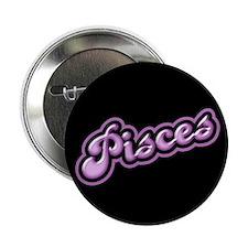 """Retro Zodiac Pisces 2.25"""" Button"""
