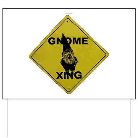 Gnome X-ing Yard Sign