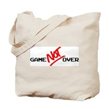 Game NOT Over - script Tote Bag