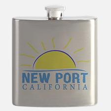Summer newport- california Flask