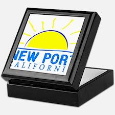 Summer newport- california Keepsake Box