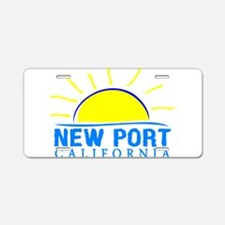 Summer newport- california Aluminum License Plate