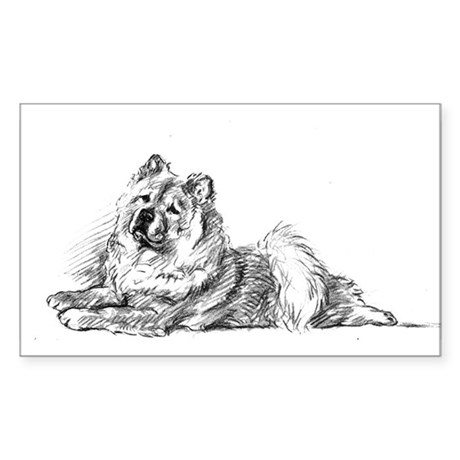 Chow Chow Rectangle Sticker