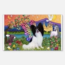 Papillon Butterfly in Fantasy Sticker (Rectangle)