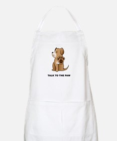 Talk To The Paw BBQ Apron